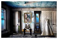 Série Cauchemars - Au fond de la piscine - Photographie,  60x40 cm ©2016 par lionel morateur -                                            Papier, Eau, reve, cauchemar, piscine