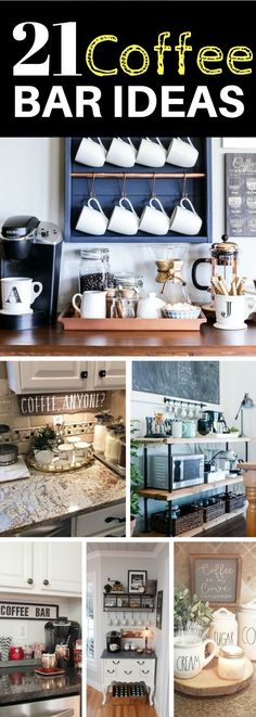How To Decorate Your Dorm Room Without Going Totally Broke   New     20 Coffee Station Ideas To Light Up Your Day