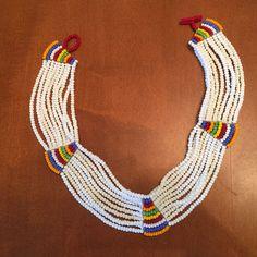 African jewelry, Masii Beaded Choker Necklace #Choker