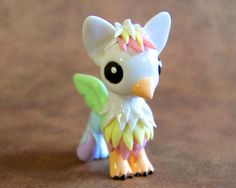 CUSTOM listing for scotsgraymouser - Pastel Rainbow Dragon and Gryphon Fimo Polymer Clay, Polymer Clay Dragon, Polymer Clay Figures, Polymer Clay Animals, Polymer Clay Creations, Diy Clay, Clay Crafts, Sculpture Clay, Sculptures