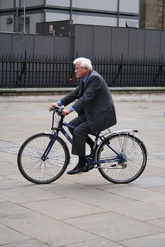 I think it's only in Europe where you can find men in suits smoking a pipe while traveling by bicycle...