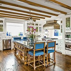 The Trend: A Kitchen for Living- Annie Selke. Coastalliving.com