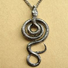 Serpent Amulet Snake Necklace Evil Pawn Jewelry Healer Year of the Snake