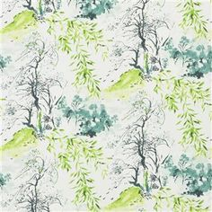 Designers Guild - Winter Palace - Lime from Shanghai Garden Wallpaper