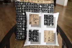 #owoceszycia illusion patchwork, pillows, recycled chair