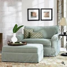 Sleeper chair - cushy recliner that hides a twin bed. Perfect for a reading nook in my office/guest bedroom. - home me My Living Room, Living Room Chairs, Dining Chairs, Dining Room, Twin Sleeper Chair, Chair Bed, Throne Chair, Swivel Chair, Chair Cushions