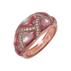 photo of pearl pink fashion - Yahoo! Search Results  pink mother of pearl and diamond ring  www.diamondinternational.com