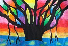 Art. Paper. Scissors. Glue!: Blazing Banyan Tree  how to