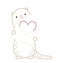 Embroidery Stitches Patterns You otter be my Valentine - a free pattern - Make a cute otter (or ferret) Valentine with this free pattern. Embroidery Applique, Cross Stitch Embroidery, Embroidery Patterns, Cross Stitch Patterns, Modern Embroidery, Cross Stitch Quotes, Cross Stitch Heart, Feather Stitch, Fibre And Fabric