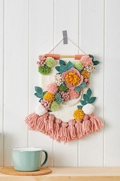 pom poms with leaves and tassels