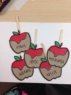 Caramel apples! Fall themed door decs!