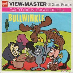 ROCKY & BULLWINKLE Boris & Natasha View-Master set 1962  (minkshmink)