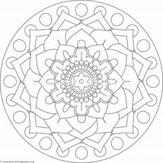 Flower Mandala Coloring Pages 245