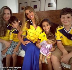 Soccer fan: Sofia appeared single as she watched Colombia take on Brazil in the World Cup last week  Read more: http://www.dailymail.co.uk/tvshowbiz/article-2684074/Sofia-Vergara-grins-lunch-date-new-love-Joe-Manganiello-New-Orleans.html#ixzz36y0D9QiZ  Follow us: @MailOnline on Twitter | DailyMail on Facebook