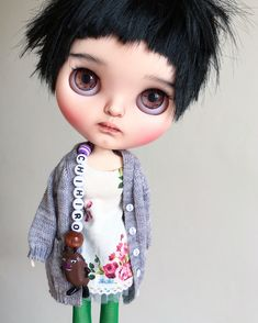 Chihiro (SOLD!) - by Tiina Customs | visit the link for see more pics about these dolls and others of Tiina Customs -> https://vanhatupa.wordpress.com/2016/07/13/chihiro/amp/