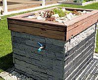 Toom Kreativwerkstatt Pumpenhaus Mit Steingartendach Wasserpumpe Garten Schuppen Design Pool