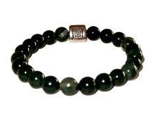 Beaded Bracelets, Buddha, Jewelry, Etsy, Unisex, Stone Bracelet, Man Bracelet, Green Agate