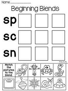 Worksheets S Blend Worksheets s blends worksheets students read and then sort the words by activities over 70 no prep printables to practice cut pastes literacy stations