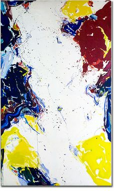 artist Sam Francis - Untitled 1959, acrylic on canvas, 336 x 199 abstract expressionism