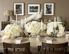 Indian Weddings Inspirations. Silver Tablescapes. Repinned by #indianweddingsmag indianweddingsmag.com