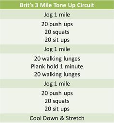 Brit's 3 mile tone up circuit Treadmill Workouts, Hiit, At Home Workouts, Butt Workouts, Circuit Workouts, Fitness Workouts, Running Routine, Running Tips, Running Plan