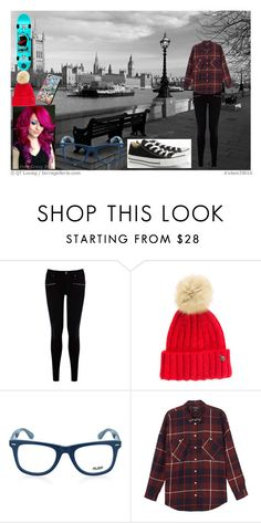 """""""Skating :3"""" by kts-world ❤ liked on Polyvore featuring Warehouse, Woolrich, GlassesUSA, Monki and Converse"""