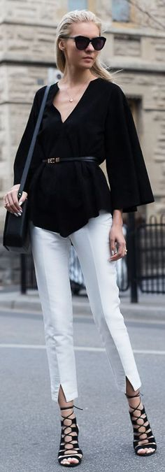 The Trenspotter Black And White Parisian Chic Outfit Idea Women apparel | Women's Clothes | Fashion | Style | Outfits | #clothes #fashion #women | SHOP @ CollectiveStyles.com