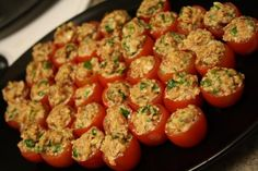 BLT Nibbles from Food.com:   If I get asked for this recipe one more time, I will scream - just kidding! This is a great do-ahead appetizer. A good recipe to have for your summer garden abundance (and parties!). Only 145 days til July!