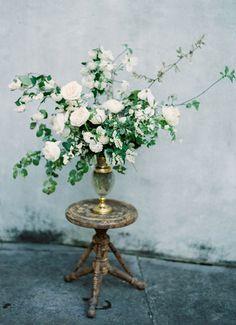 Delicate Feminine Boudoir Shoot via Magnolia Rouge is part of Wedding flowers - Wedding Ceremony Flowers, White Wedding Flowers, Floral Wedding, Wedding Bouquets, Greenery Centerpiece, Floral Centerpieces, Wedding Centerpieces, Wedding Decorations, Centrepieces