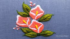 Ribbon Embroidery Tutorial, Basic Embroidery Stitches, Hand Embroidery Videos, Flower Embroidery Designs, Flowers, Artist, Painting, Chilli Recipes, Youtube