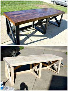 Building A Trestle Desk From Scrap Lumber Tutorial - DIY Desk Plans - Top 44 DIY Desk Ideas You can Make Easily - DIY & Crafts