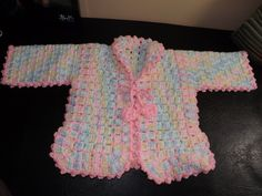 Crochet Baby Sweater for the set.