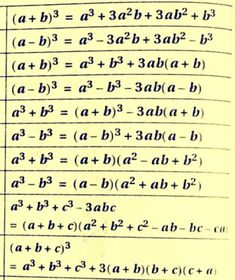 Maths Algebra Formulas, Math Vocabulary, Math Formula Sheet, Math Tables, Math Tutorials, Maths Solutions, Math Notes, Math Help, Basic Math