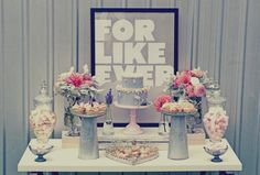 Hostess with the Mostess® - Vintage Chic Sweetheart Dessert Table