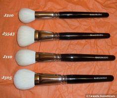 Hakuhodo white goat brushes