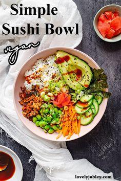Vegan Gluten Free, Gluten Free Recipes, Sushi Ingredients, Sushi Bowl, Vegan Sushi, Duck Sauce, Quick Weeknight Meals, Best Vegan Recipes, Hoisin Sauce