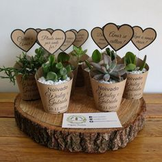 Diy Birthday Gifts For Friends, Drive In, Dining Room Table Centerpieces, Mini Plants, Diy Crafts For Gifts, Flower Pots, Sticks, Place Card Holders, Link