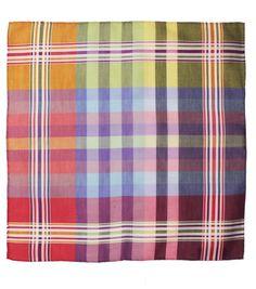 Madras Cotton Handkerchief - Hanks - Drakes London