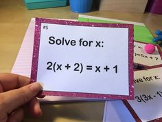 A step by step guide to how I break down teaching my 8th grade students how to solve multi-step equations. By the end, students are expected to be able to solve these kinds of problems.