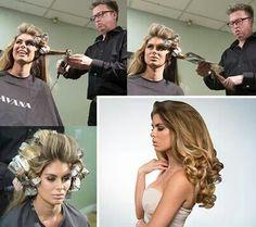 Curl hair with tin foil.