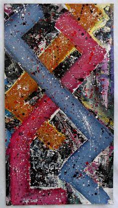 """G.A.Zanussi, """"I love tango"""", arte contemporanea quadro 53x29, opera unica su tela. 2017"""