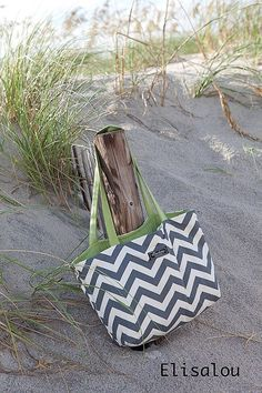 Chevron Boxy Tote by ElisaLou on Etsy, $70.00
