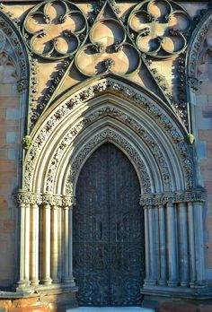 ornamental Stonework on the medieval Lichfield Cathedral, Staffordshire, England