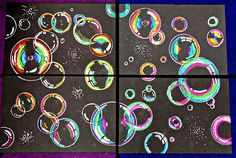 Collaborative art projects for kids murals shape 29 ideas School Art Projects, Projects For Kids, Simple Projects, Arte Elemental, Smart Class, 5th Grade Art, Second Grade, Bubble Art, Bubble Drawing