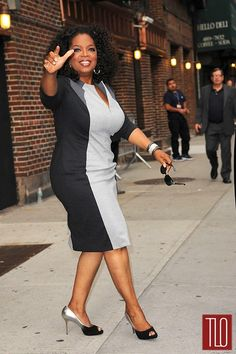 "Oprah being Oprah, which is being a STAR- in Escada on ""David Letterman"" 