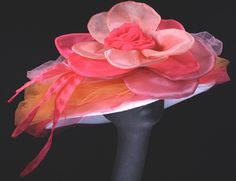 Ladies Custom Hats for the Kentucky Derby - Maggie Mae Designs - Women's Derby Hats for Sale - Couture Derby Millinery - Kentucky Oaks Hats, Preakness Hats, Belmont Hats, Triple Crown Hats, Queen's Plate Hats Derby Hats For Sale, Royal Ascot Hats, Derby Outfits, Maggie Mae, Tea Party Hats, Tea Parties, Kentucky Derby Hats, Fancy Hats, Flower Hats