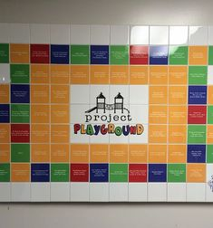 We thoroughly enjoyed this project for the Preschool Place and Kindergarten. They were looking for a way to thank donors who contributed to their playground fundraiser. Tile Installation, Wall Tiles, Fundraising, Playground, Kindergarten, Preschool, Walls, Projects, Gifts
