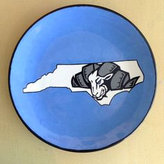 UNC Plate | Paint Your Own Pottery | Paint Your Pot | Cary, North Carolina