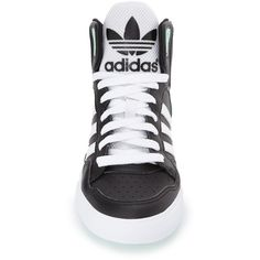 big sale e32c8 a057e Women s Adidas  Extaball  High Top Sneaker ( 70) ❤ liked on Polyvore  featuring shoes, sneakers, adidas trainers, vintage high top shoes, vintage high  tops, ...