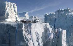 Daniel Simon Ice Train | Icetrain - Photoshop. 3600 pixels wide